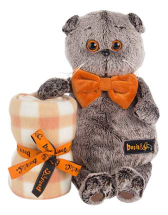 Мягкая игрушка BUDI BASA Ks25-034 Басик с пледом 25 см
