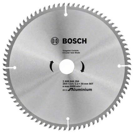 Диск по дереву Bosch ECO ALU/Multi 254x30-80T 2608644394