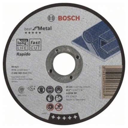 Отрезной круг Bosch Best по метл 125x1,0, прям 2608603514