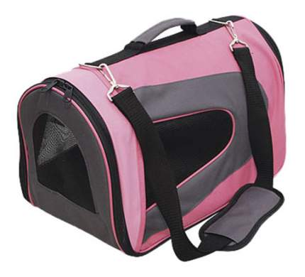 Сумка-переноска GiGwi 26x46x27см 75215 розовый, серый