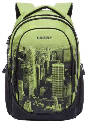 Рюкзак городской Grizzly RU-802-1/1 салатовый