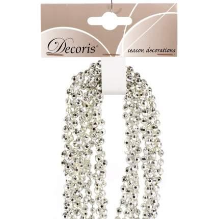 Kaemingk Бусы пластиковые Алмазная Россыпь 270 см серебряные 001476