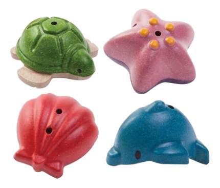 Игрушка для купания PlanToys Морская жизнь 4 фигурки