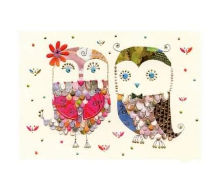 Поздравительная открытка Turnowsky Две совы 16,7 х 11,8 см MO5859