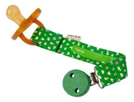 Держатель для соски-пустышки и прорезывателя для зубов (зеленый) Hevea