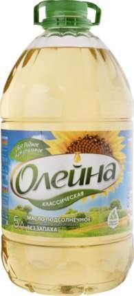 Масло подсолнечное рафинированное дезодорированное Олейна классическая первый сорт 5 л
