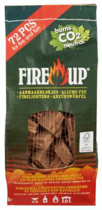 Брикеты для розжига древесные Fire up 3123 72 шт.