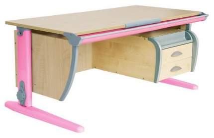 Парта Дэми СУТ 15-05Д с задней, двухъярусной задней и боковой приставками Розовый 120 см