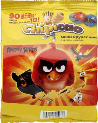 Круассаны Chipicao angry birds мини с кремом какао 50 г
