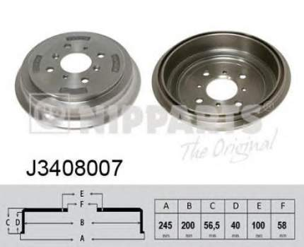 Барабан тормозной Nipparts J3408007