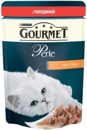 Влажный корм для кошек Gourmet Perle, говядина, 24шт, 85г