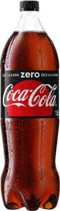 Напиток сильногазированный Coca-Cola zero безалкогольный пластик 1.5 л