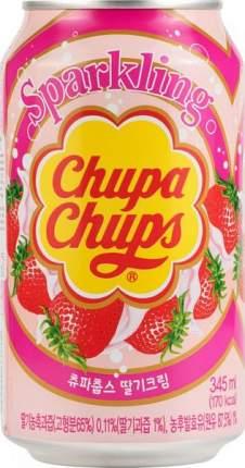 Напиток безалкогольный сильногазированный Chupa Chups клубника жестяная банка 0.345 л