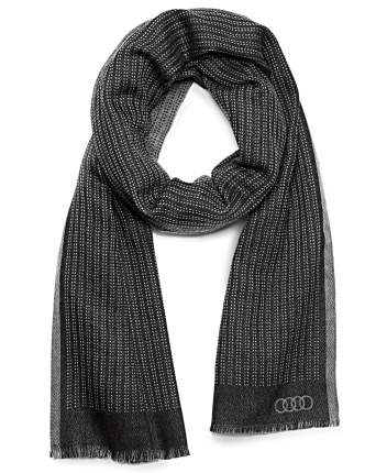 Шерстяной шарф Audi 3131401900 black/grey
