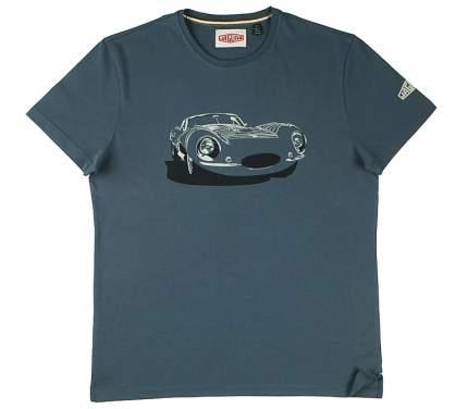 Мужская футболка Jaguar Men's Heritage Car Graphic T-shirt, Grey-Blue, артикул JBTM044BLB