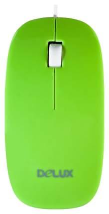 Проводная мышка Delux DLM-111 White/Green