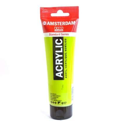Акриловая краска Royal Talens Amsterdam №617 желтовато-зеленый 120 мл