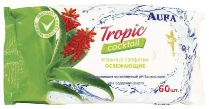 Влажные салфетки Aura Tropic Cocktail 5793 60 шт