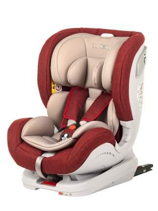 Автокресло TOREGO DRIVE ISOFIX Красный/Лен