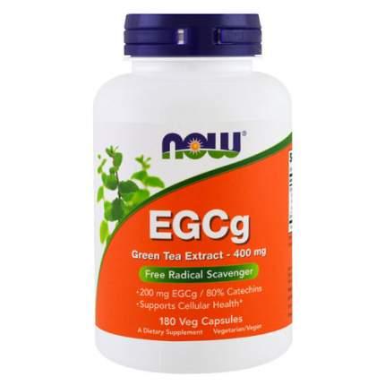 NOW EGCg Green Tea Extract 400 мг (180 капсул) - Эпигалокатехин Галат, зеленый чай