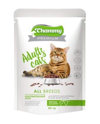 Влажный корм для кошек Chammy Premium, мясное ассорти, 85 г