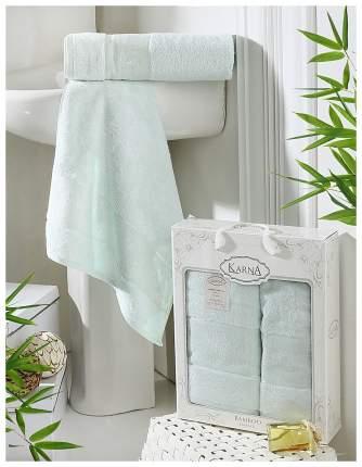 Комплект махровых полотенец Karna Pandora светло-зеленый 50х90+70х140