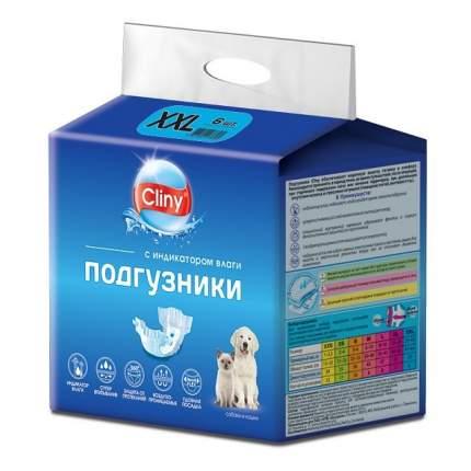 Подгузники для собак и кошек весом 25-40 кг Cliny, размер ХXL (6 штук)