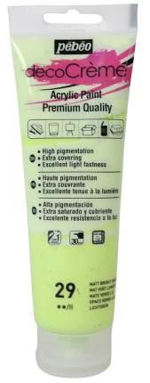 Акриловая краска Pebeo decoCreme кремовая матовая 089029 светло-зеленый 120 мл