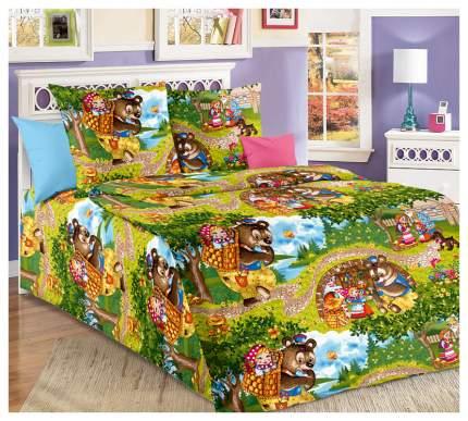 Комплект Детского постельного белья Машенька 1,5 спальный, зеленый