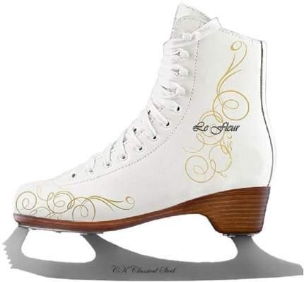 Коньки фигурные Спортивная Коллекция Le Fleur Leather 50/50 белые, 33