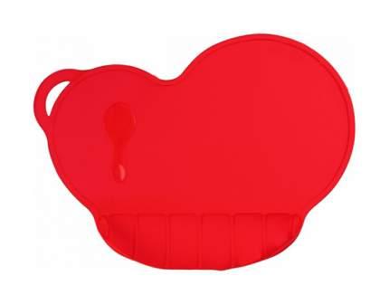 Коврик силиконовый для кормления, антискользящий, цвет красный  Mum&Baby