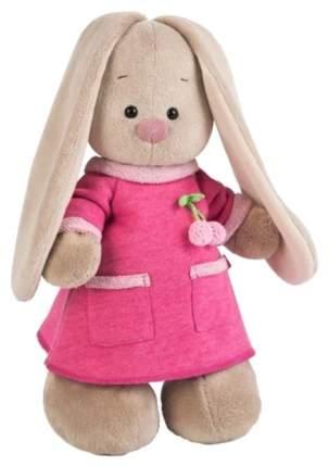 Мягкая игрушка BUDI BASA Зайка в розовом платье с вишенкой, 25 см