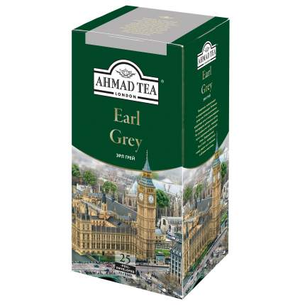 Чай черный Ahmad Tea earl grey со вкусом и ароматом бергамота 25 пакетиков