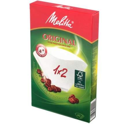 Фильтры бумажные Melitta для заваривания кофе 1х2/40 шт,,белые (0100001)