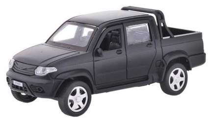 Машина металлическая инерционная UAZ Pickup, матовый черный, 12 см Технопарк