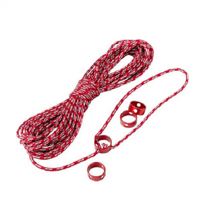 Веревка отражающая + натяжители MSR Reflective Utility Cord Kit 3 мм, красная, 15 м