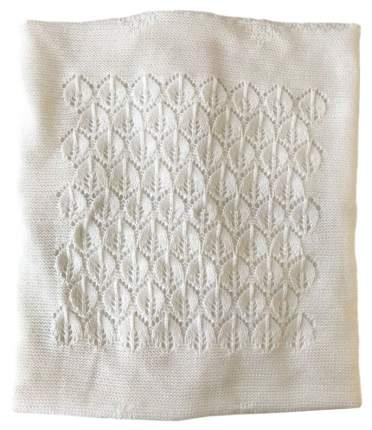 Одеяло-плед вязанный Mam Baby Листики 95x95 белый