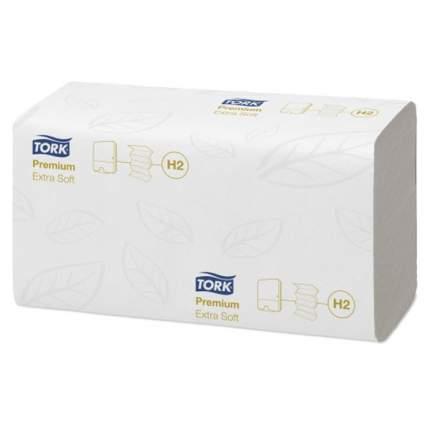 Полотенца H2 Tork Premium сложение Multifold 100 листов 2 слоя 21*34 см белые ультрамягкие