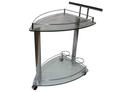 Сервировочный столик Red and Black SC-5068 Хром / Стекло