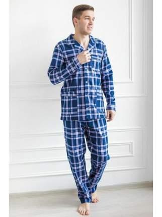 Мужская пижама из фланели LikaDress 6266 р.56