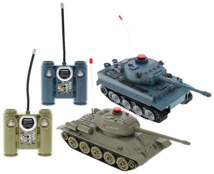 """Танковый бой на радиоуправлении, в наборе: 2 танка Т-34 и """"Тигр"""""""