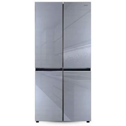 Холодильник многодверный Ginzzu NFK-525 серое стекло