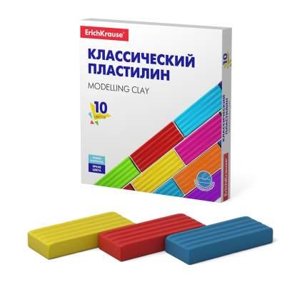 Классический пластилин ErichKrause® Basic 10 цветов, 160г (коробка)