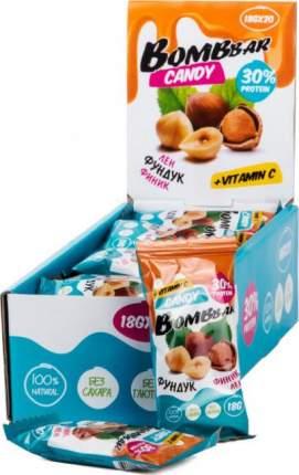 Протеиновые конфеты лен, фундук, финик 30% Bombbbar (18 г.)(20 шт.)