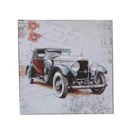 Настенное панно Винтажное авто N1, 60x60x3cm