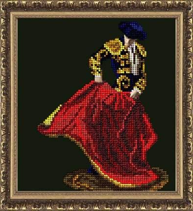 Набор для вышивания ювелирным бисером Краса и творчество 30614 Огненный танец 14,8х16,2 см