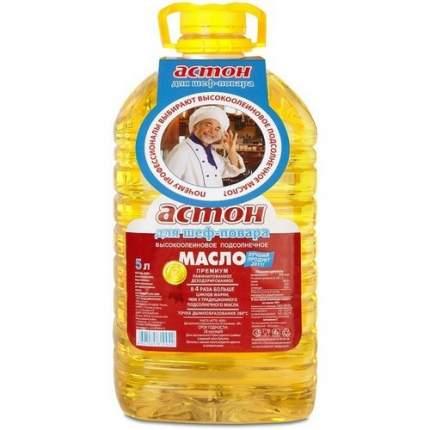 Масло Астон подсолнечное премиум рафинированное дезодорированное высокоолеиновое 5 л