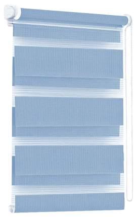 Рулонная штора Эскар День-Ночь 170х90 цвет голубой
