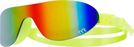 Очки-полумаска для плавания TYR Shades Mirrored LGSHDM желтые/разноцветные (968)