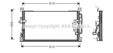 Радиатор кондиционера Ava MT5107